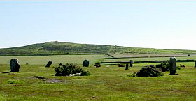 The Trippett Stones on Bodmin Moor - Horse riding holiday in Cornwall